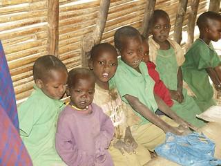 En una escuela masai - Tanzania
