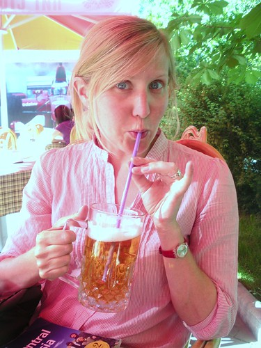 Elizabeth never quite got used to drinking beer with a straw