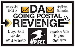 Going Postal's Revenge!!! (psychosurplus) Tags: chicago graffiti stickers usps makingdeals theupset
