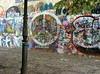Not graffiti but art!  Lennon wall