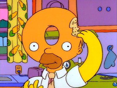 Homer con cabeza de rosquilla
