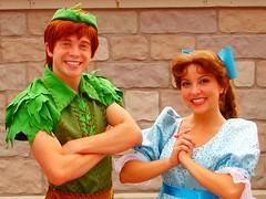 Peter Pan and Wendy (abelle2) Tags: peterpan disney peter disneyworld wdw waltdisneyworld wendy magickingdom wendydarling dreamalongwithmickey