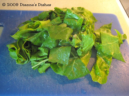 Spicy Chard with Garlic Scapes: Chard