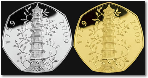 2009-UK-Kew-Gardens-Silver-Gold-Coins