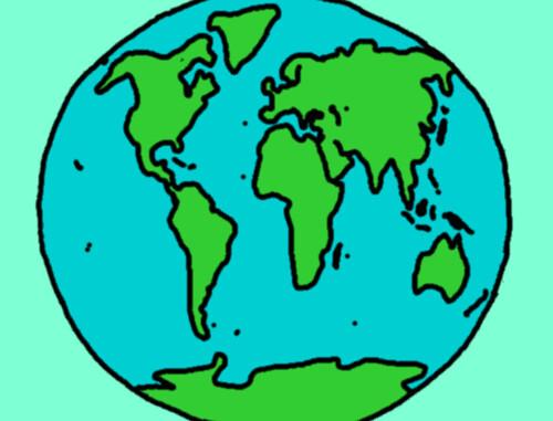 Planeta Terra, pintado pela Yohanah agora