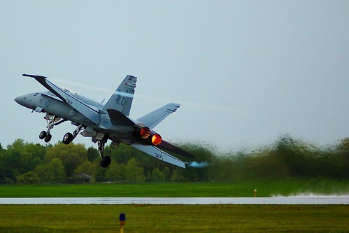 F/A-18 Rain Takeoff