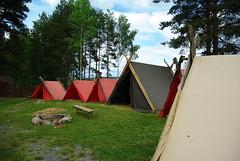 Viking camp (Carl-Fredric) Tags: tree nature grass pentax tent viking värmland nysäter k200d negeasca