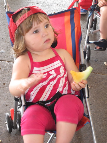 My daughter at farmer's market