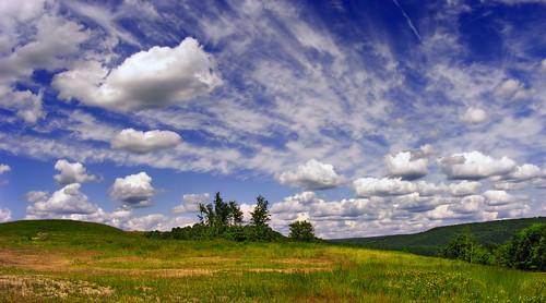 sky field weather clouds landscape spring pennsylvania cumulus creativecommons cirrus pennsylvaniawilds clearfieldcounty karthaustownship arnoldmountain