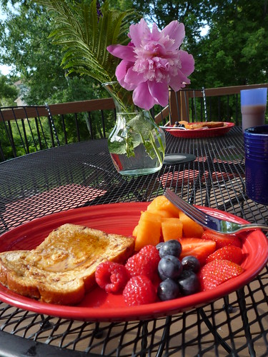 Sunday breakfast on the deck