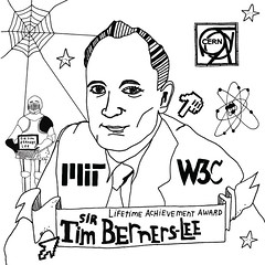 Webby Award Illustration: Sir Tim Berners-Lee