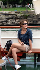 Girl on a boat tour (mdanys) Tags: usa chicago girl beauty fun glasses boat us nice stranger osama danys chicagoan mdanys