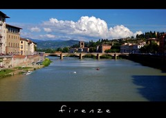 (beesquare) Tags: city italy clouds florence italia afternoon view tuscany stunning firenze arno toscana rower riverarno arnoriver blueskyriverpontevecchioponteallegrazie portadisanniccol