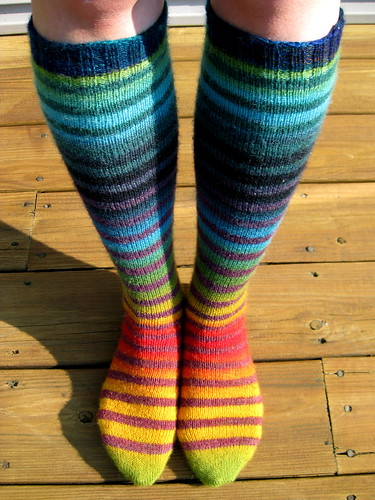 Amazing stripped knee socks