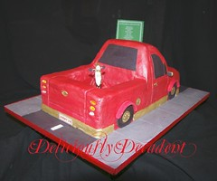 red luxi back (Deliciously Decadent (Taya)) Tags: road birthday street red car sign cake truck gold ute motorbike dirtbike