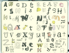 Letters 4 (Don Moyer) Tags: moleskine ink notebook typography sketch letters doodle type alphabet draw moyer letterforms donmoyer