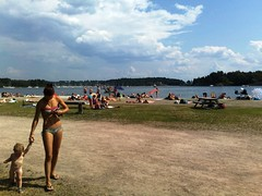 Hot summer at the beach in Oslo Norway #10
