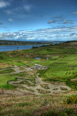 Fairway to Heaven (mistymisschristie) Tags: light sky water clouds photoshop golf pond rocks shadows dunes explore greens microsoft handheld grasses traps hdr 202 caddyshack universityplace grandviewtrail foxisland photomatix lonefir pictureit allrightsreserved 3exposure elements3 southpugetsound chambersbaygolfcourse mistymisschristie chambersbay processedwith premium10 scottishstylelinks isfastbecoming themostidentifiablefeature chrisanderson2009 july8th2009