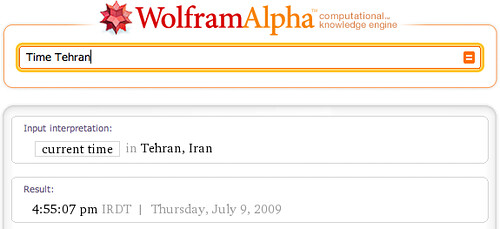Time in Tehran Wolfram