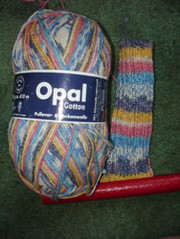 Opal cotton sock leg