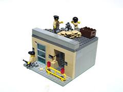 Rebel Hideout (Mdrn~Mrvls) Tags: rebel lego military bank mortar sniper hideout sandbag brickarms