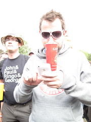 Lovebox Weekender (russelljsmith) Tags: uk pink friends england music men london apple cup festival shirt fun glasses concert victoriapark europe phone gig drinks drunks 2009 lovebox loveboxweekender 77285mm loveboxweekender2009 lovebox2009 lastfm:event=861454