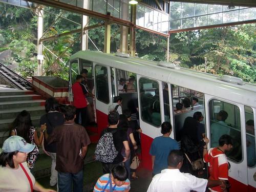 Standseilbahn auf den Penang Hill