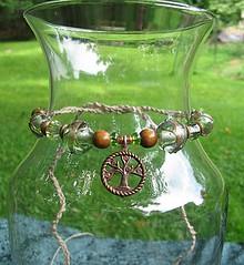Shepherd of the Trees - beaded hemp necklace or anklet (merigreenleaf) Tags: jewelry lordoftherings ent elf elven fantasy hemp necklace beaded ajg
