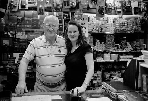 Mr. John Gunn and his daughter
