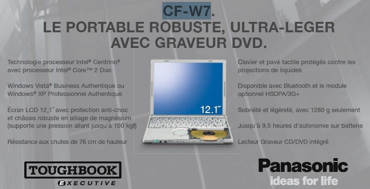 cf w7 panasonic toughbook executive