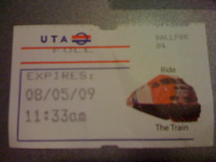 TRAX ticket from Ballpark station
