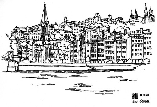Vue de Saint-Georges dans le Vieux Lyon - France