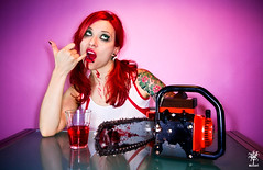 I (h)ate you (Venom (Gufina Suicide)) Tags: red up tattoo blood pin massacre suicide chainsaw piercing redhead cheerleader suicidegirls gufina