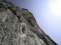 Piz Ciavazes, climbing