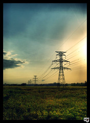 (N.i.M.A) Tags: sunset sun tower beautiful landscape farm electricity hdr transmission  transmissiontower   abigfave anawesomeshot  flickraward diamondclassphotographer flickrdiamond platinumheartaward  artofimages bestcapturesaoi  dpsenvironment