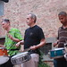 Percussion ensemble (l to r):  Alfred Kramer, Felix Gibbons, Stephen Keogh, Eddie Hick, Eiji John Mitsuta