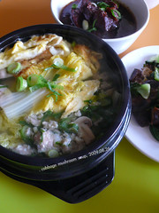 ,  Minced Pork Soup with Mushroom and Cabbage (11) Tags: food mushroom soup chinesefood pork homemade meal cabbage friedegg mince imadethis chives cilantro  mincemeat greenonion