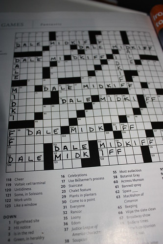 11 Across was moist. 22 Across was responded excessively. I nearly peed my pants with happy.