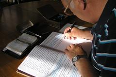134-365 (Year 3) Writing (♔ Georgie R) Tags: notebook filofax pocketfilofax fountainpen sunlight handwriting sheafferpen