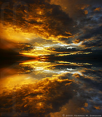 Heavens (Hermes Singson) Tags: sunset sky abstract color reflection heavens canondslr fotoarte blueribbonwinner fierysky awesomesky canonuser mywinners aplusphoto artandphotography hermessingson coloursplosion solofotos expressyourselfaward