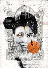Halo Of Nembutals (Luis Carlos Araujo) Tags: portrait orange woman mixed media halo drugs luis araujo of nembutals