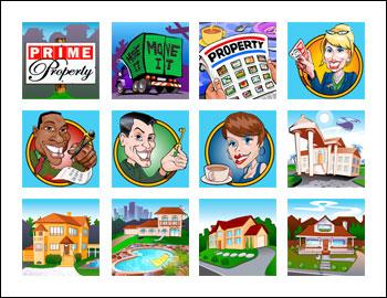 free Prime Property slot game symbols