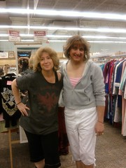 me and shopping friend laura in uniuqe thrift 91109