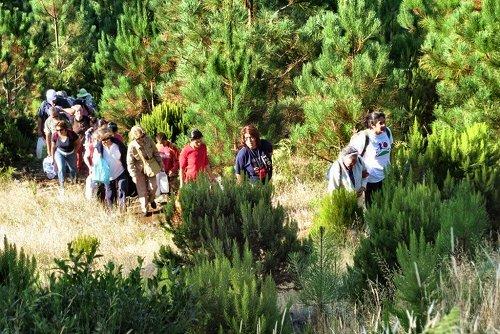 01-Chegada dos participantes ao Campo de Educação Ambiental do Cabeço da Lenha