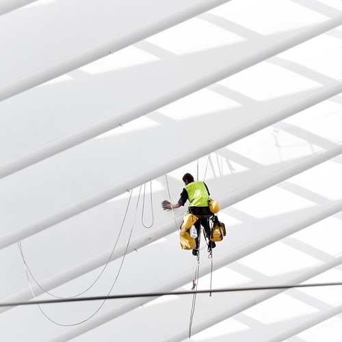 Spiderman at work (in Liège Guillemins)