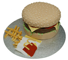 Mcdonalds Burger cake With Fries (Say it with Cake) Tags: cake with burger mcdonalds fries