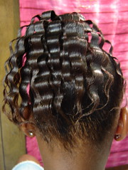 Crimp ponytail with flat twists...all her hair! Cute! (mrsjehaan) Tags: black hair beads longhair bob twist shorthair ponytail braids naturalhair weave coils extensions locs shreds afropuff nappyhair crimps dreadlocs microbraids kinkytwist blackhairstyles combtwist scalpbraids