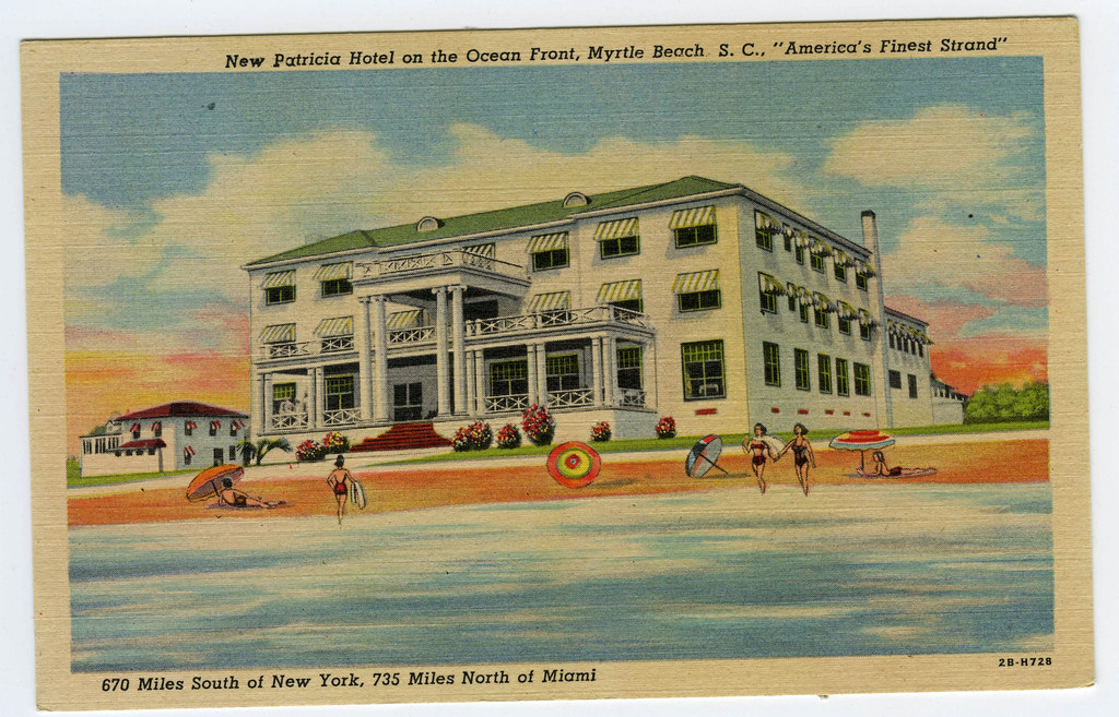Myrtle Beach New Patricia Hotel Ocean Front  S. C.
