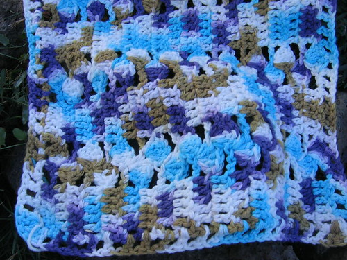Dishcloth with funky colors