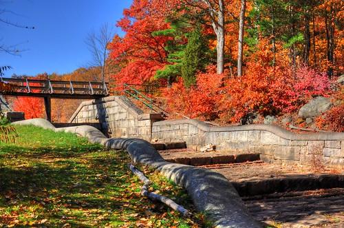 Autumn foliage in Hopkinton State Park